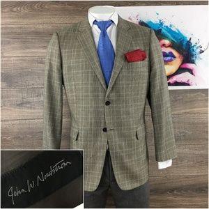 John W Nordstrom Mens Blazer Sport Coat Silk Wool